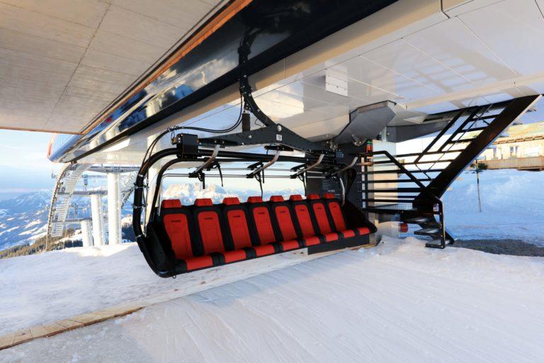 Setene blir premium EVO seter, skreddersydde med varme